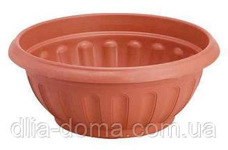 Горшок для цветов пластиковый Кашпо, диаметр 30 см, высота 13.5 см, 5503