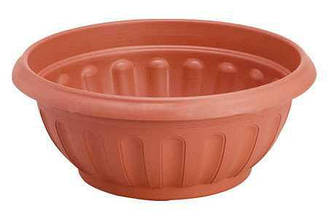 Горшок для цветов пластиковый Кашпо, диаметр 35 см, высота 145 см, 5504