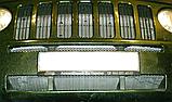 Декоративно-защитная сетка радиатора Jeep Patriot фальшрадиаторная решетка, бампер, фото 5