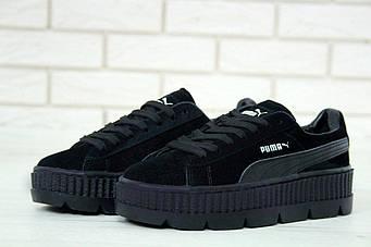 """Женские кроссовки Rihanna x Puma Fenty Cleated Creeper """"Black"""" (люкс копия)"""