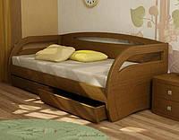 Кровать детская подростковая Аиша, массив дуб, ясень, фото 1