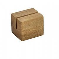 Меню-холдер деревянный, акация 3х2.5х2.5 см