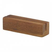 Меню-холдер деревянный, акация 9х3х3 см
