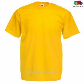 """Футболка унисекс """"Valueweight T"""" для термотрансферной и прямой печати, ярко-желтая Размер S"""
