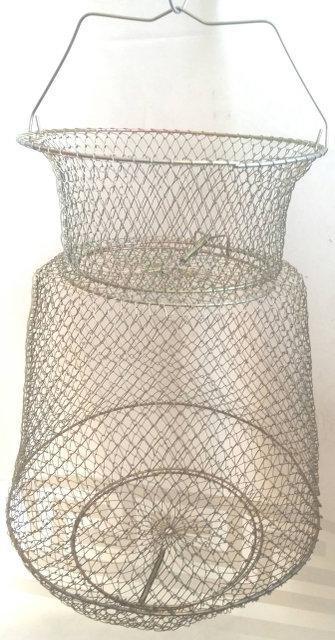 Садок рибальський металевий круглий 25см діаметр