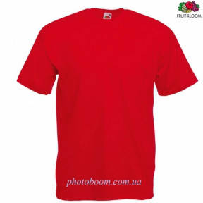 """Футболка унисекс """"Valueweight T"""" для термотрансферной и прямой печати, красная Размер XL"""