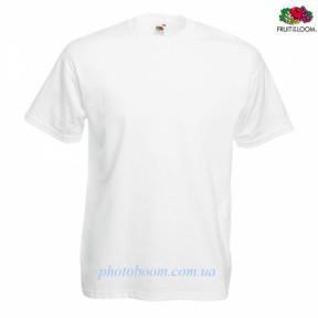 """Футболка унисекс """"Valueweight T"""" для термотрансферной и прямой печати, белая Размер L"""
