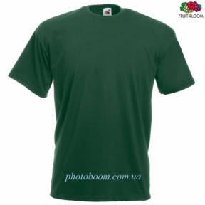 """Футболка унисекс """"Valueweight T"""" для термотрансферной и прямой печати, темно-зеленая Размер M"""