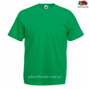 """Футболка унисекс """"Valueweight T"""" для термотрансферной и прямой печати, зеленая  Размер S"""