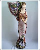 Скульптура садовая Айса цветная гипсовая
