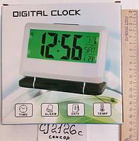Настольные часы CJ-2126 с датчиком хлопка