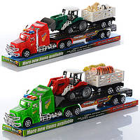 Трейлер с трактором и животными арт.9002-47-48