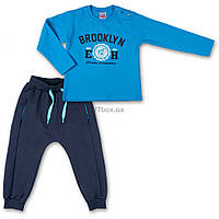 """Набор детской одежды Breeze кофта и брюки голубой """" Brooklyn"""" (7882-74B-blue)"""