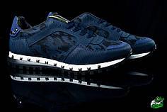 Мужские кроссовки Valentino темно-синие топ реплика