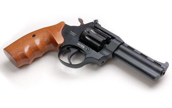 Револьвер под патрон флобера Safari РФ 441М с рукояткой из бука