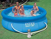Надувной бассейн intex 28112 с фильтром и насосом