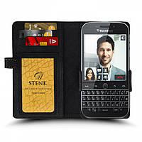 Чехол книжка Stenk Wallet для BlackBerry Classic Q20 Чёрный