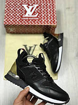 Кроссовки женские Louis Vuitton черные топ реплика, фото 2