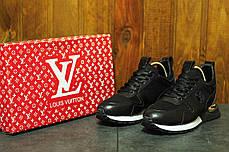 Кроссовки женские Louis Vuitton черные топ реплика, фото 3