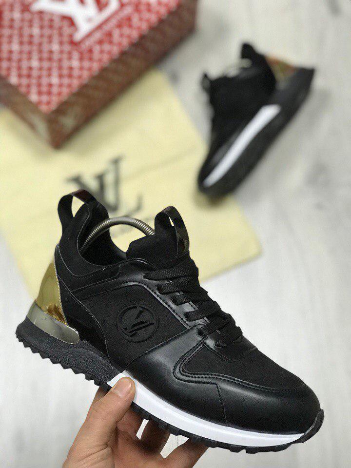Кроссовки женские Louis Vuitton черные топ реплика