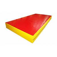 Страховочный мат для единоборств 200х100х30 см, цвет красный