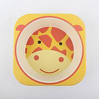 Набор посуды из бамбукового волокна Giraffe Eco