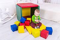 Мат игровой домик с кубиками