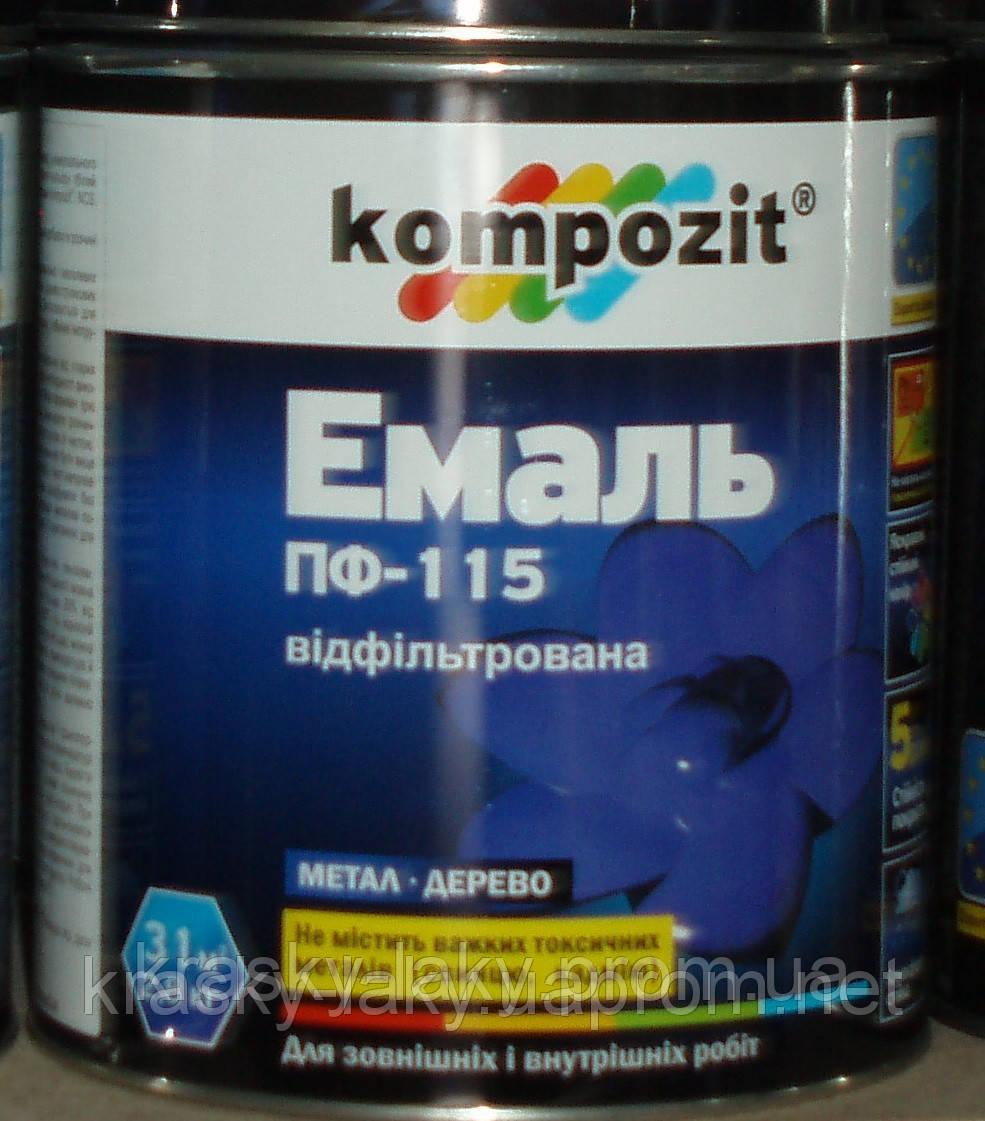 Эмаль ПФ-115 Kompozit® серебристая, 2.5кг