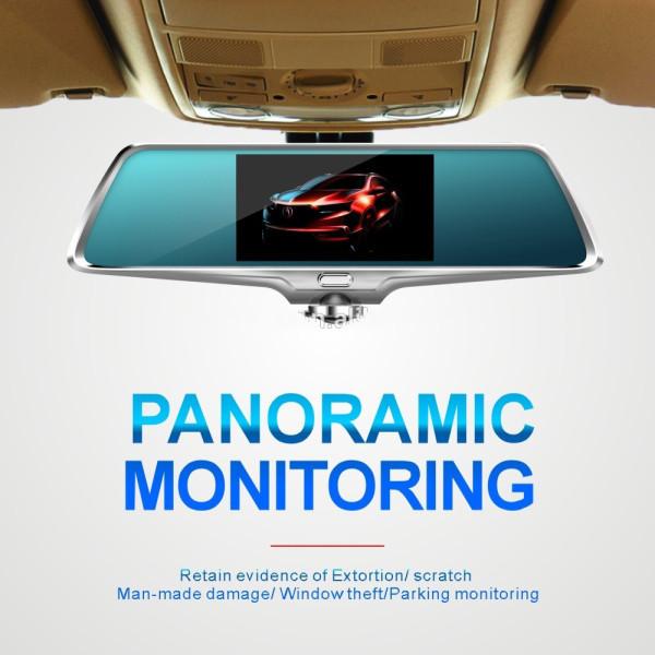 """Регистратор-зеркало K15 камера 360 градусов + камера заднего вида + сенсорный экран 5"""""""
