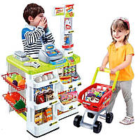 Игровой набор Супермаркет 668-01-03 с кассой,тележкой и товарами
