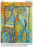Схема на ткани для вышивки бисером Котики ТМ Дана cf97a049c07da