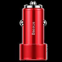 АЗУ Baseus Small Screw (2USB 2xQuickCharge QC3.0 36W) Красный