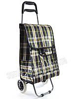 Хозяйственная сумка-тележка, кравчучка, сумка для покупок на 2-х колесах color cage, фото 1