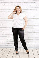 Молочная блузка с коротким рукавом | 0789-1