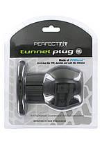 Perfect Fit Tunnel Plug Extra Large Black Порожниста анальна пробка тунель чорна, фото 2