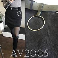 Вельветовая юбка с поясом , фото 1