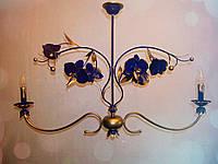 Люстра синяя на 2 лампы