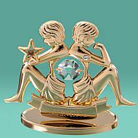 "Знак зодиака ""Близнецы"" Crystocraft с кристаллами Swarovski,  0259-001"