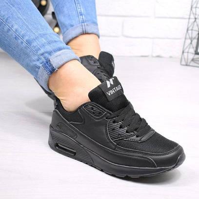 Кроссовки женские Air Max черные 4579, спортивная обувь