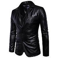 Мужская классическая куртка,пиджак кожаныйс натуральной кожи.