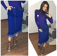 Длинная джинсовая юбка , фото 1