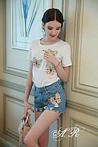 Костюм шорты и футболка с нашивками в виде бабочек 44-48 р, фото 2