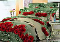 Полуторное постельное белье полиСАТИН 3D (поликоттон) 857815
