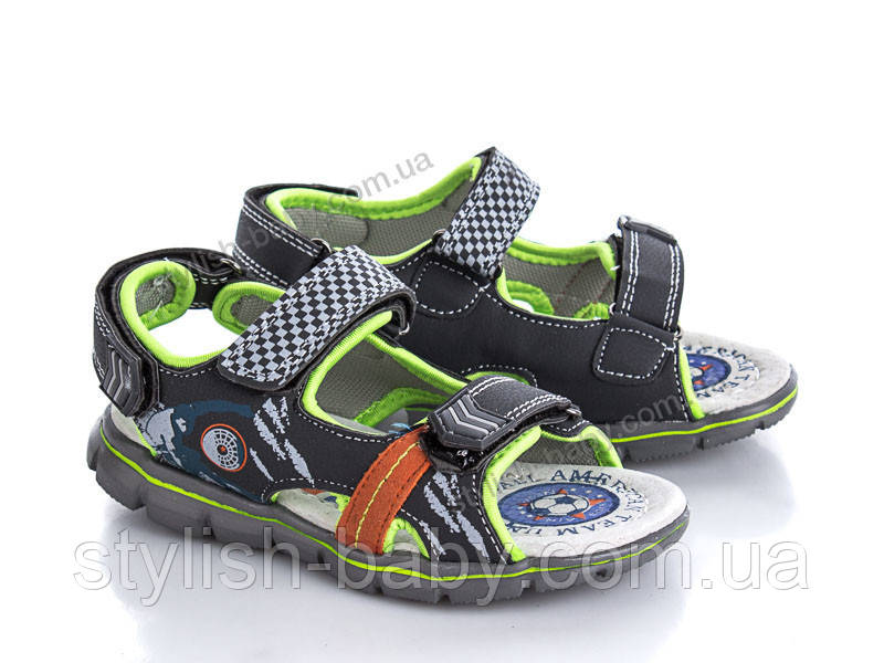 Дитяче літнє взуття оптом. Дитячі босоніжки бренду ОВТ для хлопчиків (рр. з 26 по 31)