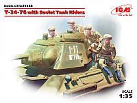 1:35 Сборная модель танка Т-34/76 с танковым десантом, ICM 35368