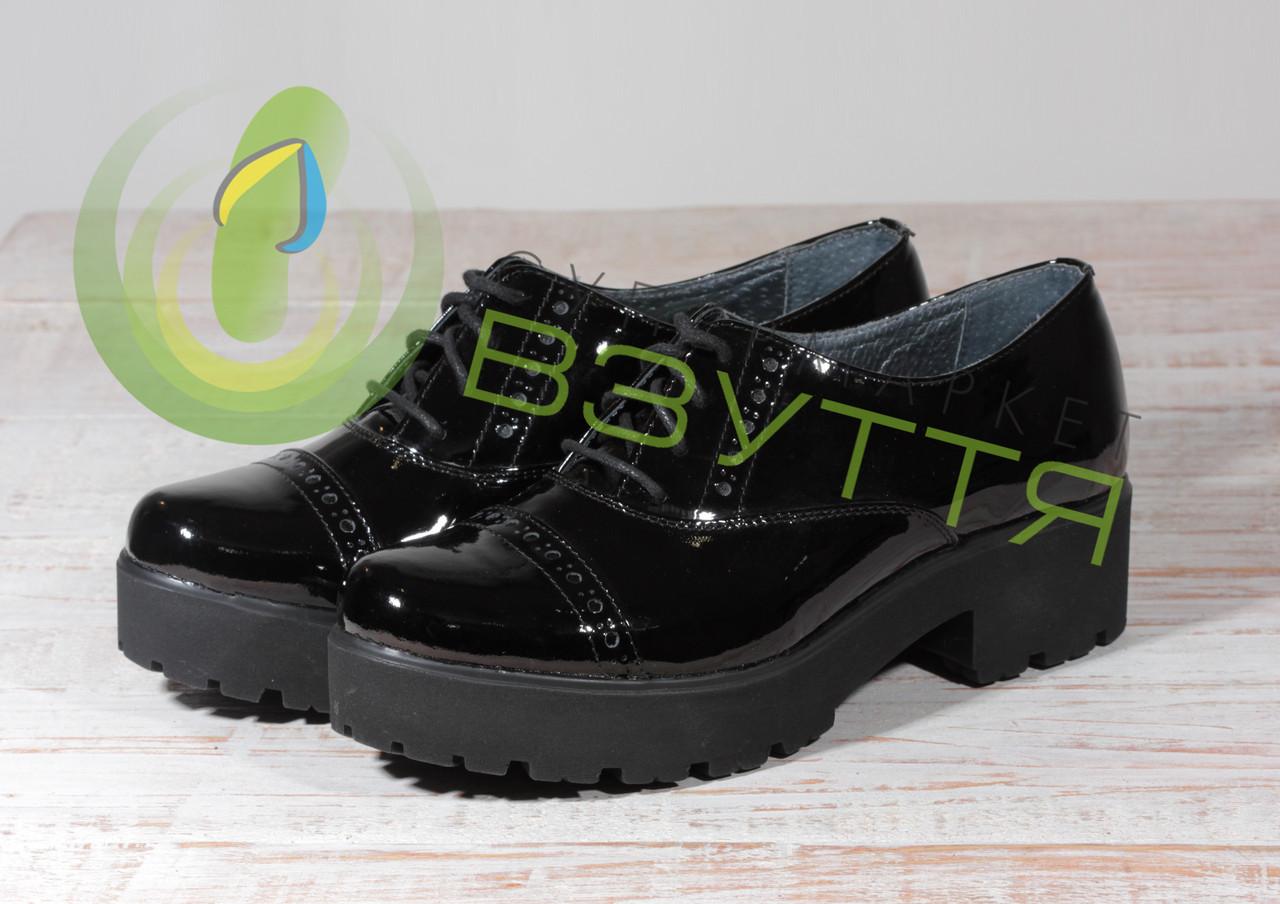 Туфли из натуральной лаковой кожи Мида 21413 чл 36 размер