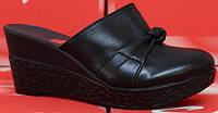 Сабо женские кожаные на танкетке закрытые от производителя модель СТЛ41, фото 1