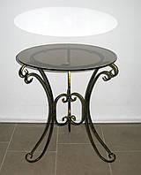 Стол кованый круглый 4 малый черный, фото 1