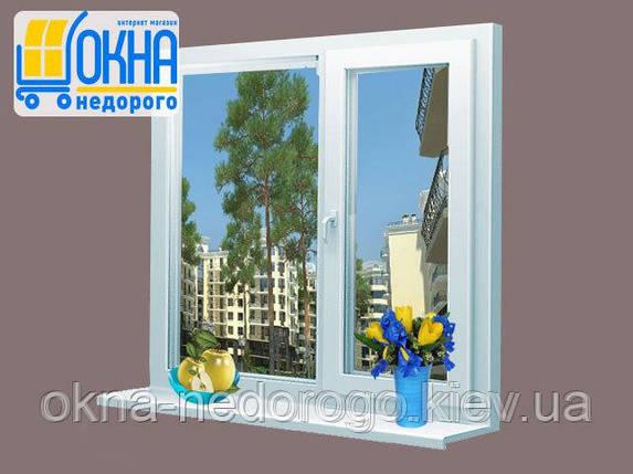 Двухстворчатое окно OpenTeck Elit с одной створкой для открывания, фото 2