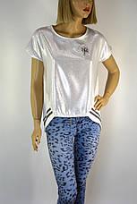жіноча футболка з люрексом і срібним напиленням, фото 3